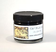 A new, very black iron gall ink. It was a big hit at IAMPETH and is highly recommended by Michael Sull as a dense black ink for pointed pen work. Smooth flowing, great hairlines. Good for work that will be reproduced as it is quite dark. Because Old World is an iron gall ink, it is very acidic.