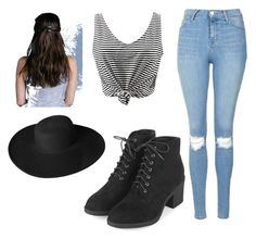"""""""Stripes"""" by julietlove2002 on Polyvore featuring Topshop and Dorfman Pacific"""