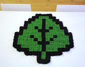 Super Mario Leaf Crochet Blanket