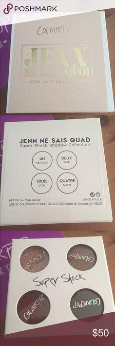 NIB ColourPop Jenn Ne Sais Quoi eyeshadow quad NIB ColourPop Jenn Ne Sais Quoi eyeshadow quad. Limited edition & no longer being sold. Unopened, untouched. Colourpop Makeup Eyeshadow