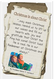 Didi @ Relief Society: Words from President Dieter F. Uchtdorf, handout - The Friend, December 2013 - handout