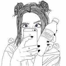 Resultado de imagem para tumblr girl drawing