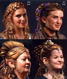 [Concept art of dwarf females from Weta's The Hobbit: An Unexpected Journey Chronicles: Art & Design