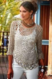 Resultado de imagen de blusas caladas a crochet patrones