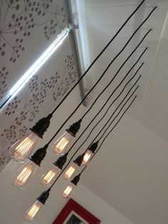 8 light Edison bulb industrial modern chandelier by DanielMatlach, $399.00