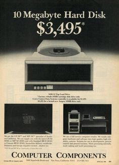 Vintage advertisement…. So much clunky and money for so little megabytes. Those were the days.