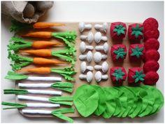 paniers fruits et légumes... en feutrine cette fois-ci !
