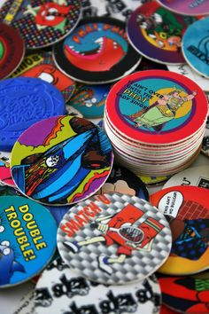 pogs. I may or may not have found.. and brought out my collection at our last get together.