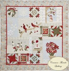"""A Graceful Winter"" at Common Threads Quilting.  Block-of-the-month quilt.  Design by Denise of A Graceful Stitch"