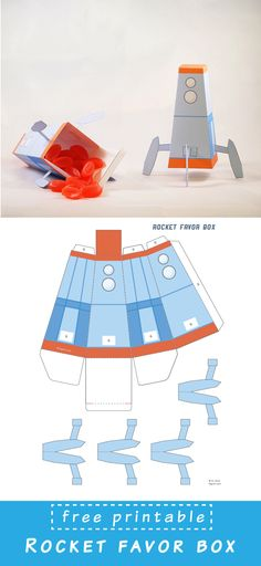 Create your own Rocket Favor Box. Great for kids party.