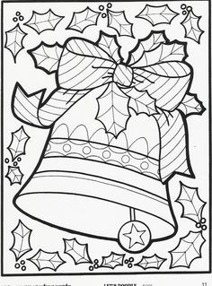 Christmas coloring page More Let's Doodle Coloring Pages!