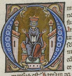 Biblia sacra. Date d'édition : 1275-1400 Sujet : Initiales historiées Sujet : Reliures XVIIIe s. aux armes royales Type : manuscrit Langue : Latin