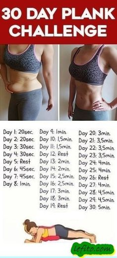 Try This 30 Day Plank Exercise for Beginners to Help You Get a Flat Belly and Smaller Waist #ad