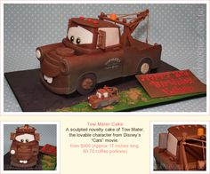 Tow Mater Cake - my son would love this!