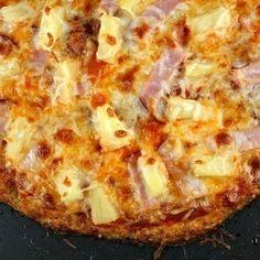 Cauliflower Crust Hawaiian Pizza.