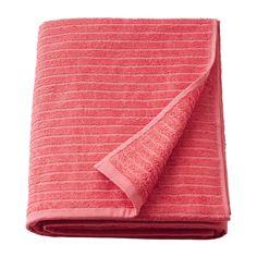IKEA - Drap de bain VÅGSJÖN - rouge clair, Longueur: 150 cm, Largeur: 100 cm, Superficie: m², Grammage: 400 g/m²