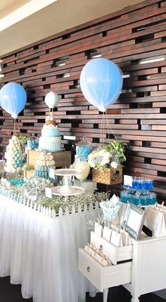 Hot Air Balloon Baptism Party Ideas | Photo 8 of 14 | Catch My Party
