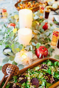A pretty holiday table