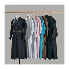 Brooklyn Museum: Just as she painted certain locations and objects over and over, O'Keeffe adopted a serial aesthetic in her wardrobe. If she particularly liked a garment or accessory, she purchased it in multiples or had duplicates made. Her collection of wrap dresses, copied from a dress originally bought at Neiman Marcus, shows this loyalty to her favorite styles.