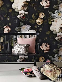 Dark florals aren't just for spring. In fact, the gorgeous print looks good all year. Though the trend can seem intimidating at first, these tips make it easy to style dark floral wallpaper, art, and more.