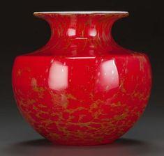 Red Glass, Glass Art, Steven Williams, Vases Decor, Flower Arrangements, Auction, Decorative Vases, England, Washington