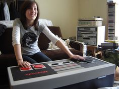 DIY storage that looks like a giant NES controller..... Good idea for kids room