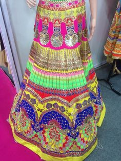 Multi coloured lehenga
