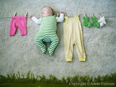 Creative pictures while baby sleeps