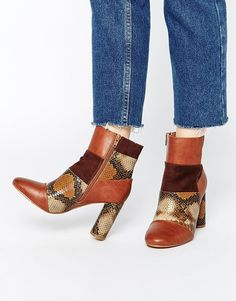 Truffle Collection Alice Patchwork Heeled Ankle Boots