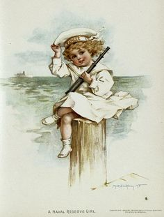 """From """"Gallant little patriots"""" written and illustrated by Maud Humphrey; Frederick A. Stokes Company, c. 1899"""