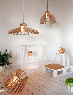 Laser-cut lamps - Website Van Tjalle en Jasper