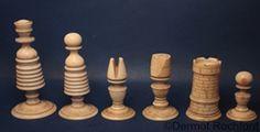 English Chess Set Late 18th Century King 9cms