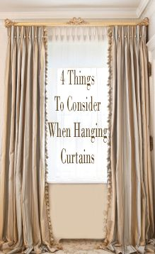 The first thing you need to consider when hanging curtains is their function. Are you going to want to let light in, keep light out, orkeep heat or cold out. Are they just for decoration, or do they need to do something too? 2. The next thing would be …