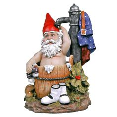 Design Toscano Tubby the Bathing Garden Gnome Statue & Reviews | Wayfair