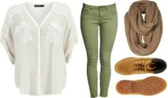 Fall outfit. I need some green pants but I would wear my old combat boots instead of the Timberlands.