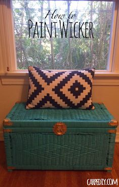 Learn how easy it is to paint wicker! This is my first post on CarpeDIY.com - hope you enjoy!