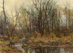 """""""A Berkshire Brook in Autumn,"""" Hugh Bolton Jones, oil on canvas, 20 x 27"""", private collection."""