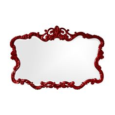 Red Lacquer Baroque Mirror | dotandbo.com