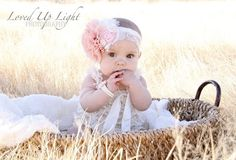 6 month old photo shoot ideas | month old photo shoot, photography , baby girl Loved Up Light ...
