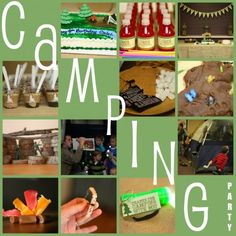 Camping theme birthday party...