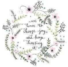 choose joy || henri j. m. nouwen