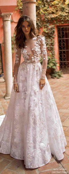 berta fall 2018 long sleeves wedding dresses BG6I6269-1 #wedding #weddingdress #weddingideas #deerpearlflowers #dpf ❤️ http://www.deerpearlflowers.com/long-sleeves-wedding-dresses/