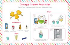 Cooking With Toddlers, Kids Cooking Recipes, Kid Cooking, Easy Recipes, Orange Cream Popsicles, Teaching Sight Words, Kids Cookbook, Kids Menu, Easy Meals For Kids