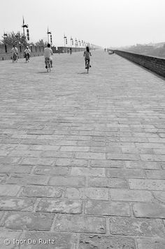 Xi'an  Walked on the wall, saw terra cotta warriors. 2005.