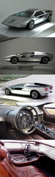 1972 Maserati Boomerang / Italy / Giorgetto Giugiaro ItalDesign / concept…
