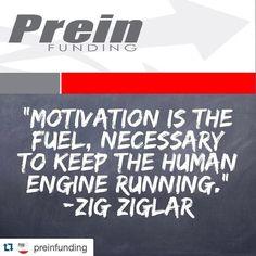 "Repost @preinfunding  ""Motivation is the fuel necessary to keep the human engine running."" -Zig Ziglar  #ZigZiglar #TGIF #Happy #Friday #Quote #QuoteOfTheDay #PhotoOfTheDay #PicOfTheDay #Instagood #InstaDaily #InstaMood #ATX #Austin #Texas #LosAngeles #Miami #Phoenix #Motivation #Inspiration #Success #PREINFunding #RealEstate #Realtor #Business #Entrepreneur #Luxury #FlippingHouses #Wealth #AllergicToAverage"