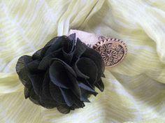 Black Rose Wine Cork Pin by TheBeadedCork on Etsy, $12.00