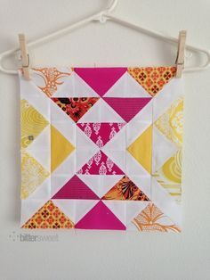 Stacked Pyramids quilt block
