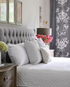 Tufted headboard in