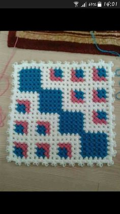 This Pin was discovered by Nur Puff Stitch Crochet, Baby Afghan Crochet, Baby Afghans, Crochet Squares, Crochet Granny, Crochet Stitches, Knit Crochet, Crochet Patterns, Wiggly Crochet
